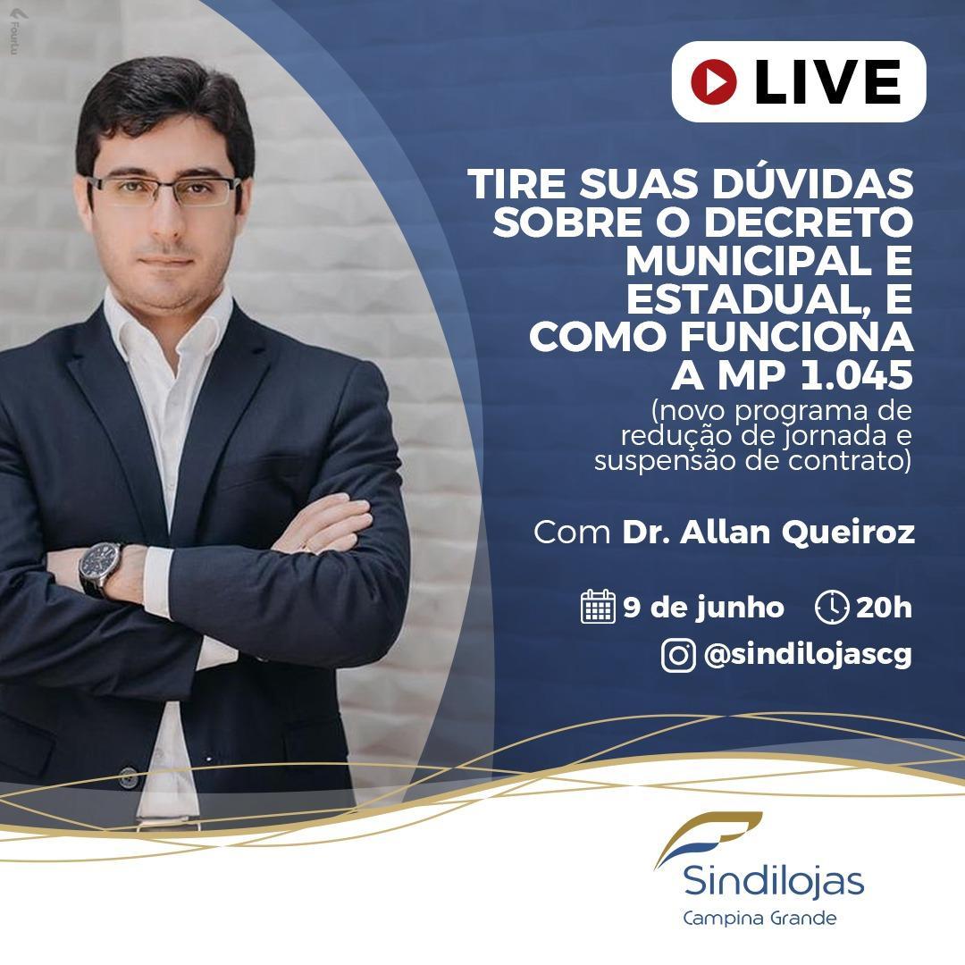 Live - MP 1045 - Allan Queiroz - Leal Queiroz - Sindilojas Campina Grande